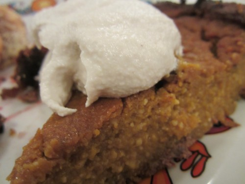 Pumpkin pie with cashew cream